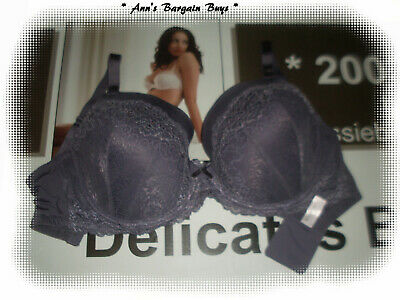 Target Collection-Women's Size 14E-Floral-Lace covered-Padded-U/W Bra-Grey-NWOT