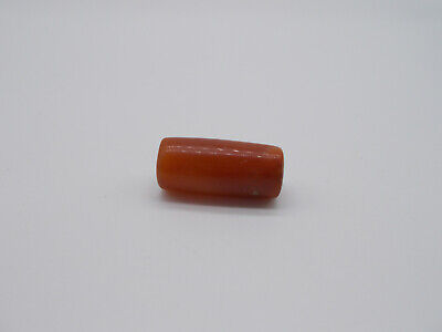 ~ Pre-Columbian ~  Tairona ~  Carnelian Agate Tube Bead ~  Reduced 20%  ~