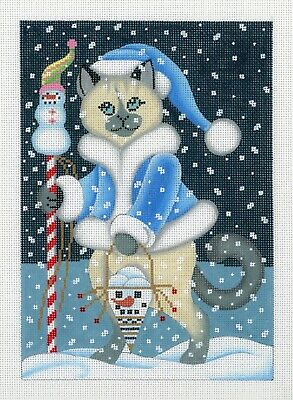 Brenda Stofft Snow Cat B-153 Christmas Needlepoint