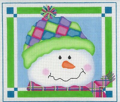 Pepperberry Designs Patches Snowman SN03 Christmas Needlepoint