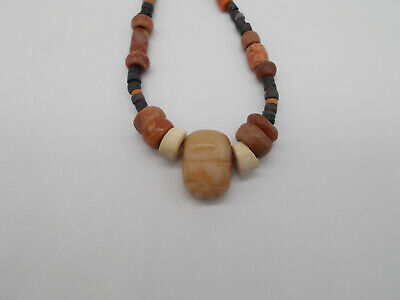 Pre-Columbian  Tairona  Carnelian Agate Necklace Fertility Idol Pendant Reduced!