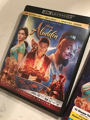 Aladdin [2019] Live-Action (4K Ultra HD and Blu-ray) Will Smith -with Digital