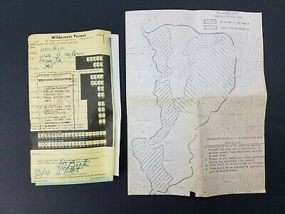 1976 California Wilderness Permit W Map Inyo National Forest Baxter Williamson