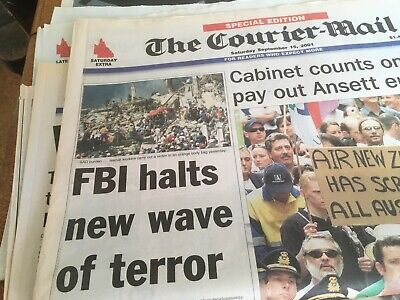 Trade Towers Attacked Courier Mail Editions September 2001
