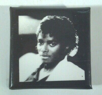 "Vintage 1983 Michael Jackson Pin Button Badge 1.5"" Square Thriller Pose"