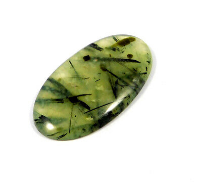 95 Cts. 100% Natural Green Needle Prehnite Rutile Cabochon Gemstone ARM18447