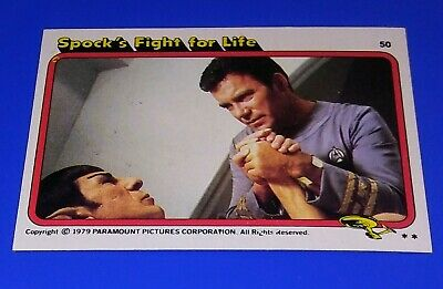 1979 Topps Star Trek The Motion Picture Movie Card #50 Spock's Fight For Life