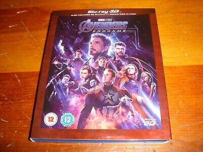 Avengers Endgame 3D with case and slipcover