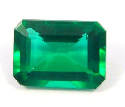 Treated Faceted Emerald Gemstone12CT 14x10mm  NG16155