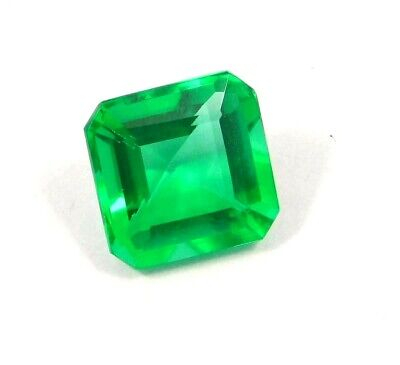 AAA Treated Faceted Emerald Gemstone12CT 12x12mm NG16050