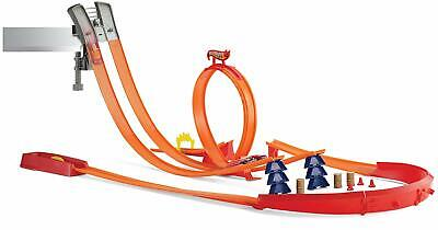 Mattel Hot Wheels Super Track Pack Playset with 2 Cars *Over 45 pieces!