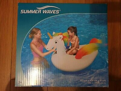 "New Summer Waves 7ft 2"" (220cm) Inflatable Giant Unicorn"