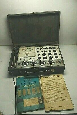 Accurate Instrument Co. Model 257 Vacuum Tube Tester Tested and turns on & light