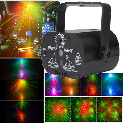 60 Patterns LED RGB DJ Disco Stage Light Mini Laser Projector Xmas Show Party