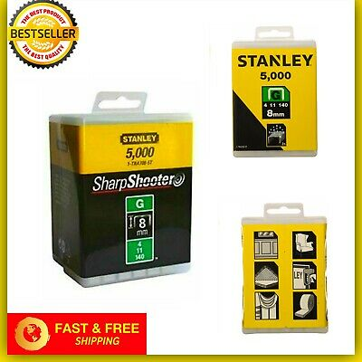 Stanley 1-TRA705-5T 8mm G-Type Heavy Duty Staples 5000 Pieces NEW & FAST