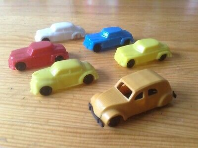 PLASTIC Micro CARS 1/87 HO 196? Vintage (Kinder) COLLECTOR !