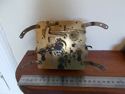 Antique German Brass Clock Movement