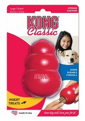 KONG CLASSIC Dog Toy Tough Rubber Pet Treat Chew Choose different size