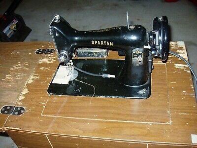 Vintage, Antique 1950 Singer Spartan Sewing Machine RFJ9-8 Simanco 192K