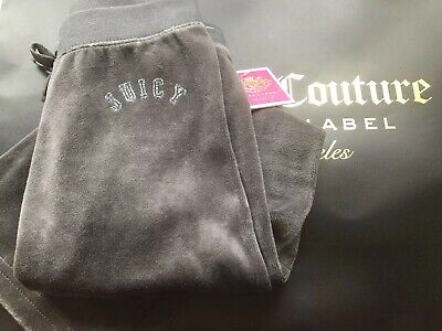 Juicy Couture Girl Age 8 Tracksuit Bottoms Joggers Velour Grey Bnwt 🎀🌸🎀🌸
