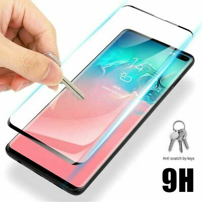 Tempered Glass Full Cover Screen Protector For Samsung Galaxy S10 5G S10+ Plus E