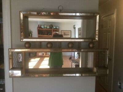 Vintage Mid Century Modern Atomic Shadowbox Mirror Illinois Moulding Company