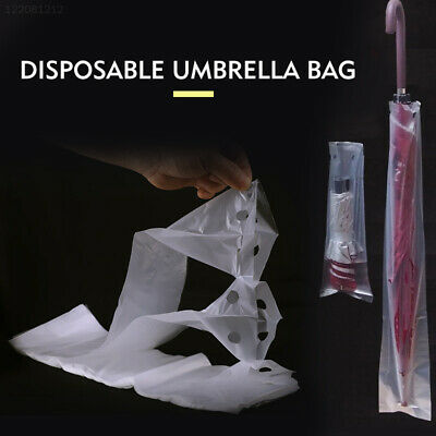 32DE 100pcs Disposable Umbrella Cover Disposable Bag Hotel Shop Convenient