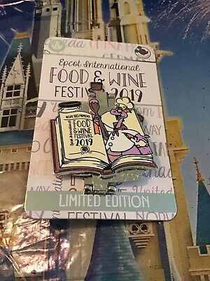 Disney Parks Passholder Epcot Food & Wine Festival 2019 Figment LE Pin NEW
