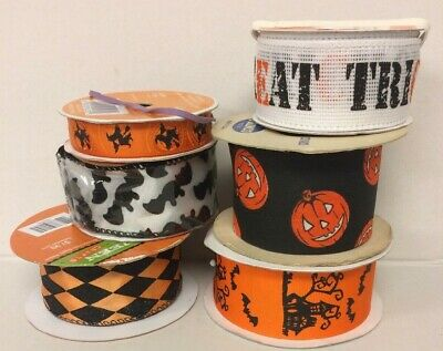 Halloween Ribbon Mixed Lot with New & Vintage