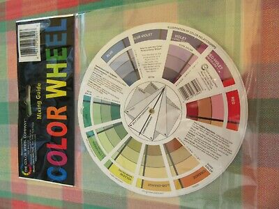 Artist Oil Acrylic Pocket Colour Wheel Paint Mixing Guide Painting Art