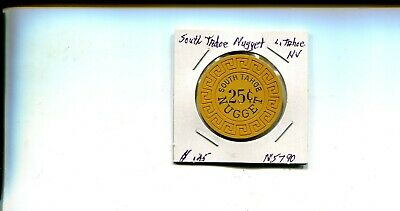 25 Cent South Tahoe Nugget Casino Chip BV-K $60-$74
