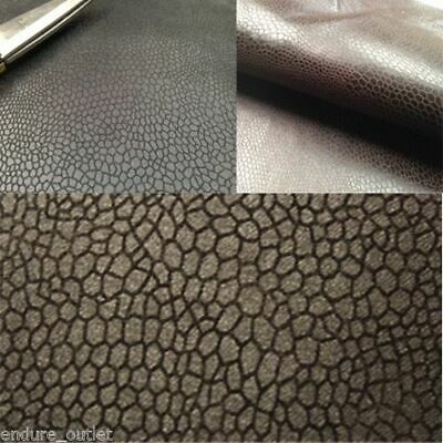 Black Faux Leather / Leathertte / Faux Suede / Snake Upholstery Fabric Material