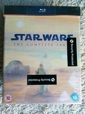Star Wars The Complete Saga Blu Ray 9 Disc Boxset 2011 Brand New Factory  Sealed