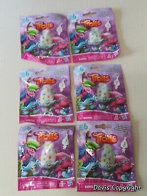 Trolls Series 6 Blind Bags Lot Of 6 New//Factory Sealed