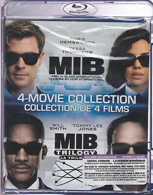 MEN IN BLACK/MIB 4 MOVIE COLLECTION BLURAY & DIGITAL SET with Chris Hemsworth
