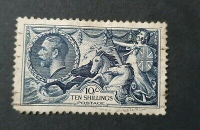 Gb King George V Sg 452 10S Indigo Re Engraved Fine Used