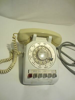 WESTERN ELECTRIC Bell System 5 line business rotary dial white telephone VINTAGE