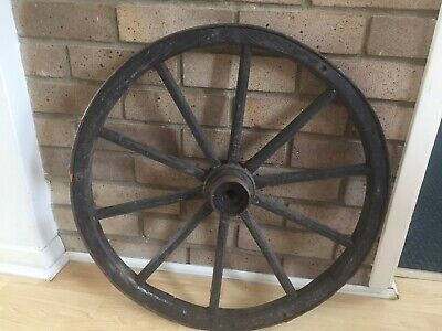 VINTAGE WOODEN WHEEL 57cm - WEDDING TABLE PLAN - GARDEN