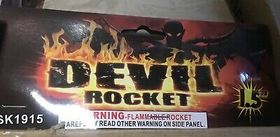 Firework Label Devil Rocket Labels Only X2 * New Brown Heads No More Silver