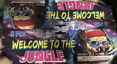Firework Label Welcome To The Jungle Labels Only X2