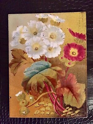 Antique Tile by T A Simpson Of Stoke On Trent Hand Painted Circa 1880 Rare