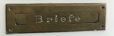 "Antiker Briefschlitz ""Briefe"" Messingfarben"