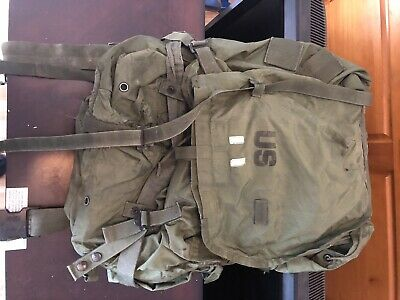 Used Field Pack Combat Nylon Large US Manufacturing Military Army Pack Backpack