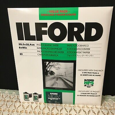 "ILFORD MGIV Multigrade IV 8X10"" RC Deluxe Pearl Paper Photographic 25 Sheets NOS"