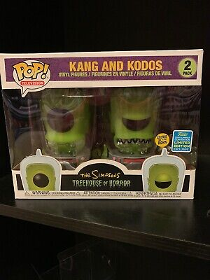 Funko Pop! The Simpsons Kang and Kodos GITD 2-Pack 2019 SDCC Shared Exclusive