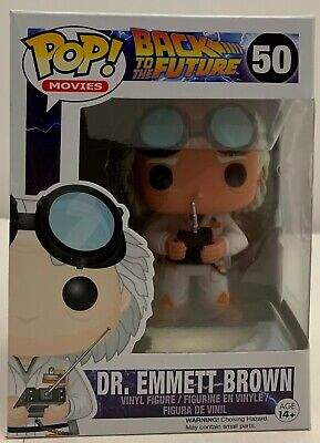 FUNKO POP! Movies Back to the Future Dr Emmett Brown #50 W/Protector