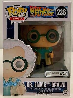 FUNKO POP! Movies Back to the Future Dr Emmett Brown #236 Loot Crate Exclusive