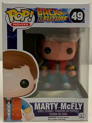 FUNKO POP! Movies Back to the Future Marty Mcfly #49 W/Protector