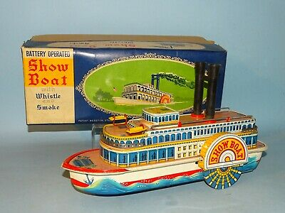 Show Boat Battery Toy Original Box Masudaya Japan