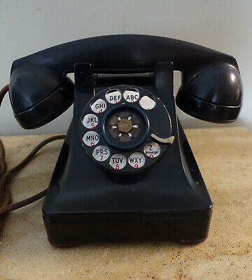 Vintage Bell System Made by Western Electric F1 Rotary Desk Telephone  DIAL TONE